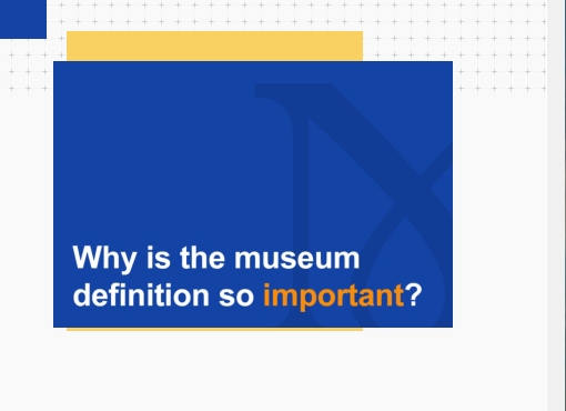 Die Museumsdefinition